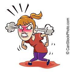 mulher zangada