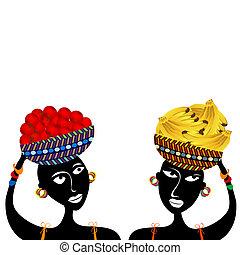 mulheres, africano