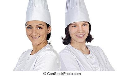 mulheres, cozinheiros