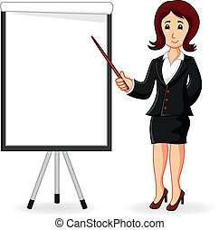 mulheres, ficar, segurando, um, treinamento