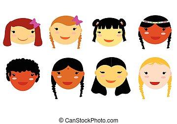 mulheres, rosto