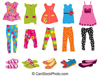 mulheres, roupas crianças
