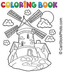 mulino vento, 1, libro colorante