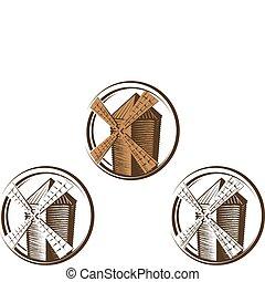 mulino vento, simboli