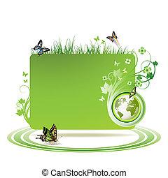 mull, grön fond