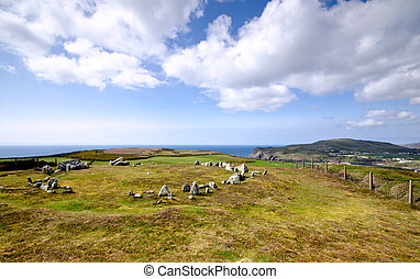 Mull Hill Stone Circle Overlooking Port Erin