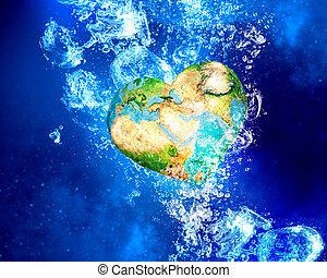 mull, planet, vatten under
