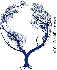 mull, träd