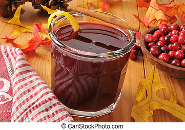 Mulled cranberry juice