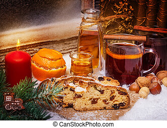 Mulled wine and christmas cake, 1st Advent