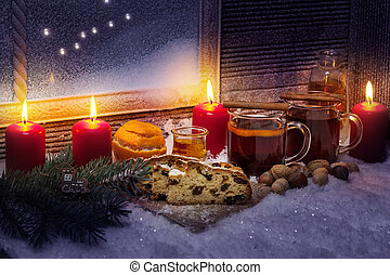Mulled wine and christmas cake, 4th Advent