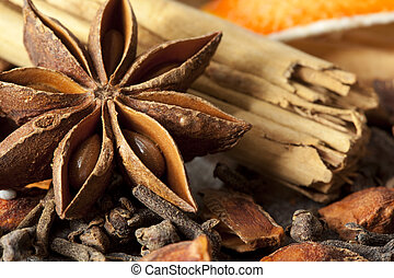 Mulling Spices - Mulling spices, including star anise,...