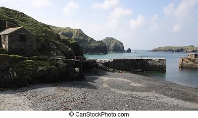 Mullion Cove harbour Cornwall UK - Mullion Cove harbour The...