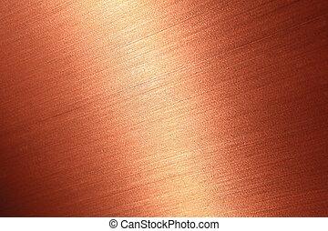 multa, escovado, textura, cobre