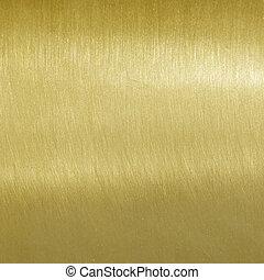 multa, escovado, textura, dourado