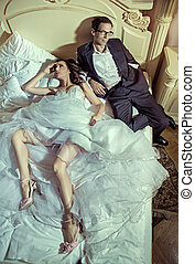 multa, immagine, di, il, coppia matrimonio