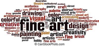 multa, palabra, arte, nube