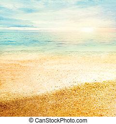 multa, tramonto, sabbia