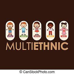 multiétnico, comunidad