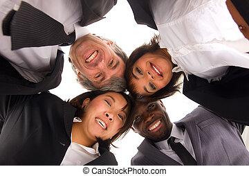 multi-étnico, equipe