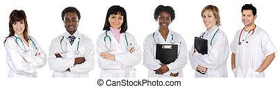 multi-étnico, equipe médica