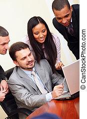 multi-, ügy, interacting., meeting., befog, etnikai