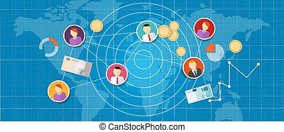 multi, ネットワーク, 人々, マーケティング, レベル, 販売, mlm, affiliate, 接続される
