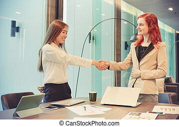 multi, ビジネス, 動揺, 部屋, 民族, 西部, 手, ミーティング, 女性
