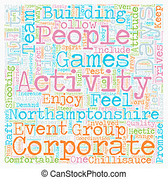 Multi activity days in Northamptonshire text background ...