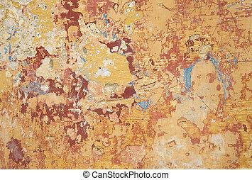 multi, barwa, i, struktura, malować, na, ściana