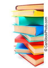 multi, -, books., coloreado