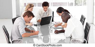 multi, business, travail, jeune, culutre, équipe