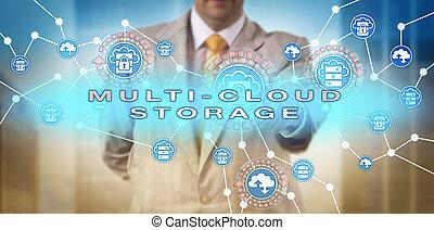 multi-cloud, activer, directeur, stockage, entreprise