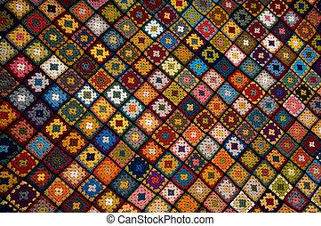 multi, cobertor, colorido