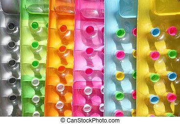 multi-coloré, gonflable, matelas
