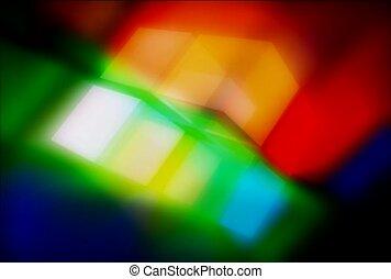 multi-coloré, subtil, psychédélique