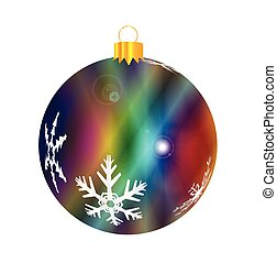 Multi Color Bauble Decoration - A glossy jazz multi colored...
