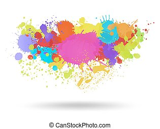Multi color blots background. Vector illustration
