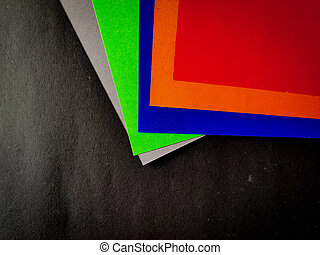 Multi color charts isolated on black background.