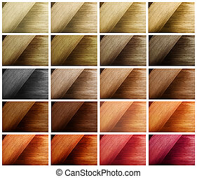 Multi color hair sample swatches