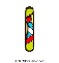 Multi color layers font Letter I 3D