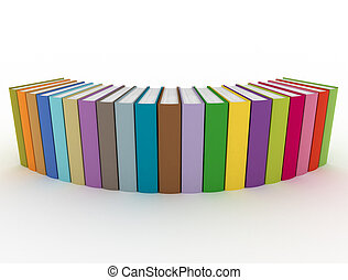 multi, color, libros, consecutivo
