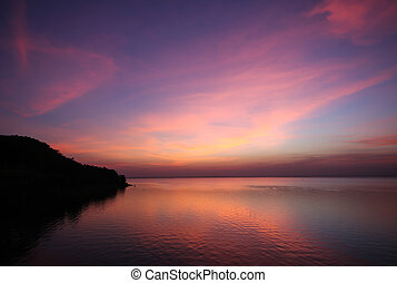 Multi color of cloud and sky at twilight time - Multi color...