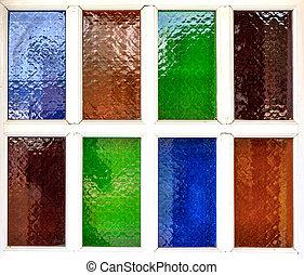 multi color of glass window