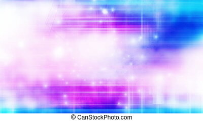 Multi color particle abstract loop