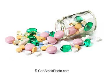 Multi color pills