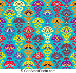 Multi color Retro pattern. Vector formate. Flowers seamless...