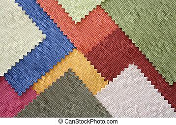 multi, color, tela, textura, muestras