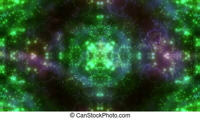 Multi color VJ Particle Loop