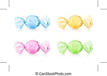 multi colorato, caramelle